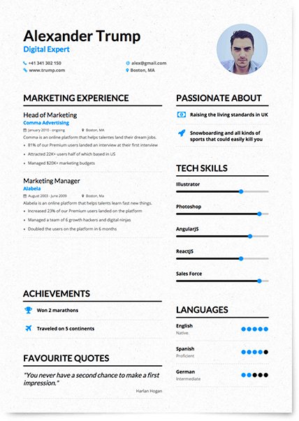 Enhancv helps you create compelling human-centric resumes that ...