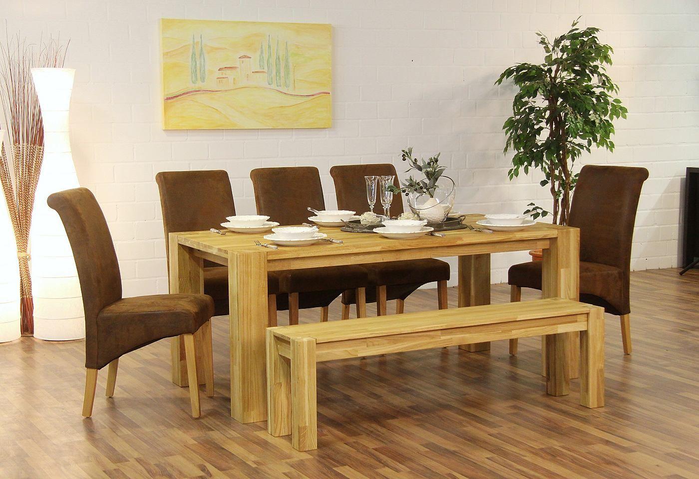 Mit Diesem Esstisch Wird Speisen Zum Erlebnis: Massiver Tisch Aus Wildeiche  Mit Geölter Oberfläche.