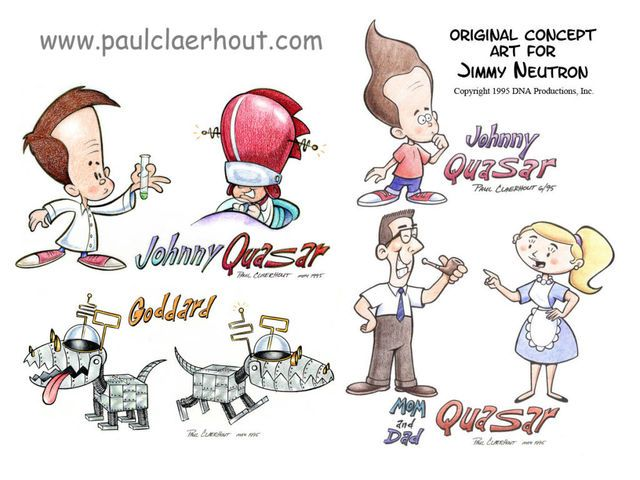 Early Jimmy Neutron Johnny Quasar Concept Art Jimmy