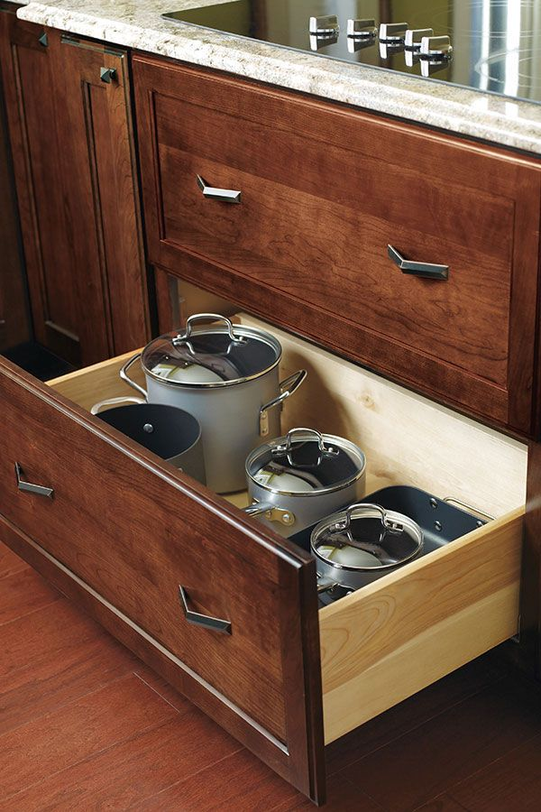 This Deep Drawer Cabinet Is Perfect For Storing Large Pots And Pans That Can 39 T Fit Anywher Kitchen Cabinets Drawing Base Cabinets Restaurant Kitchen Design
