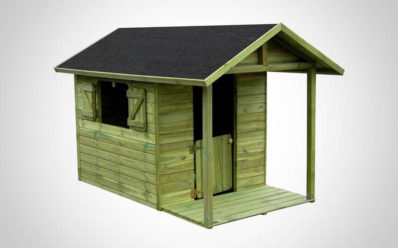 Casetta in Legno da giardino per bambini FLORA, interamente in legno autoclavato trattato per esterni e con guaina impermeabilizzante per il tetto. http://www.brichome.it/prodotti/casetta-in-legno-da-giardino-per-bambini-flora/