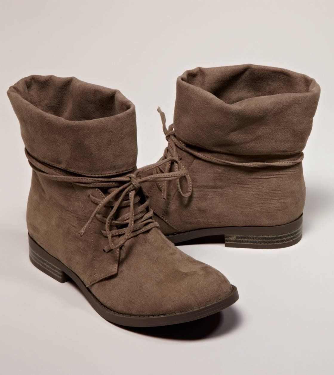 MIA Foldover Suede Bootie   American Eagle Outfitters