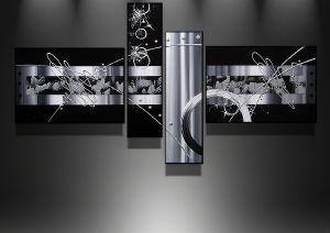 Tableaux abstrait design triptyque Eva.