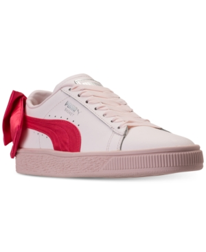 Puma Little Girls  Basket Bow Casual Sneakers from Finish Line - Pink 2.5 38504b69c