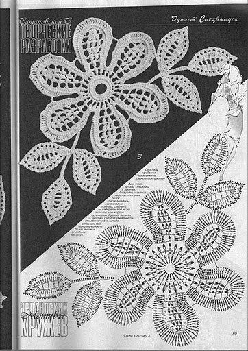 Letras e Artes da Lalá: Crochê irlandês - irish lace   tatting ...