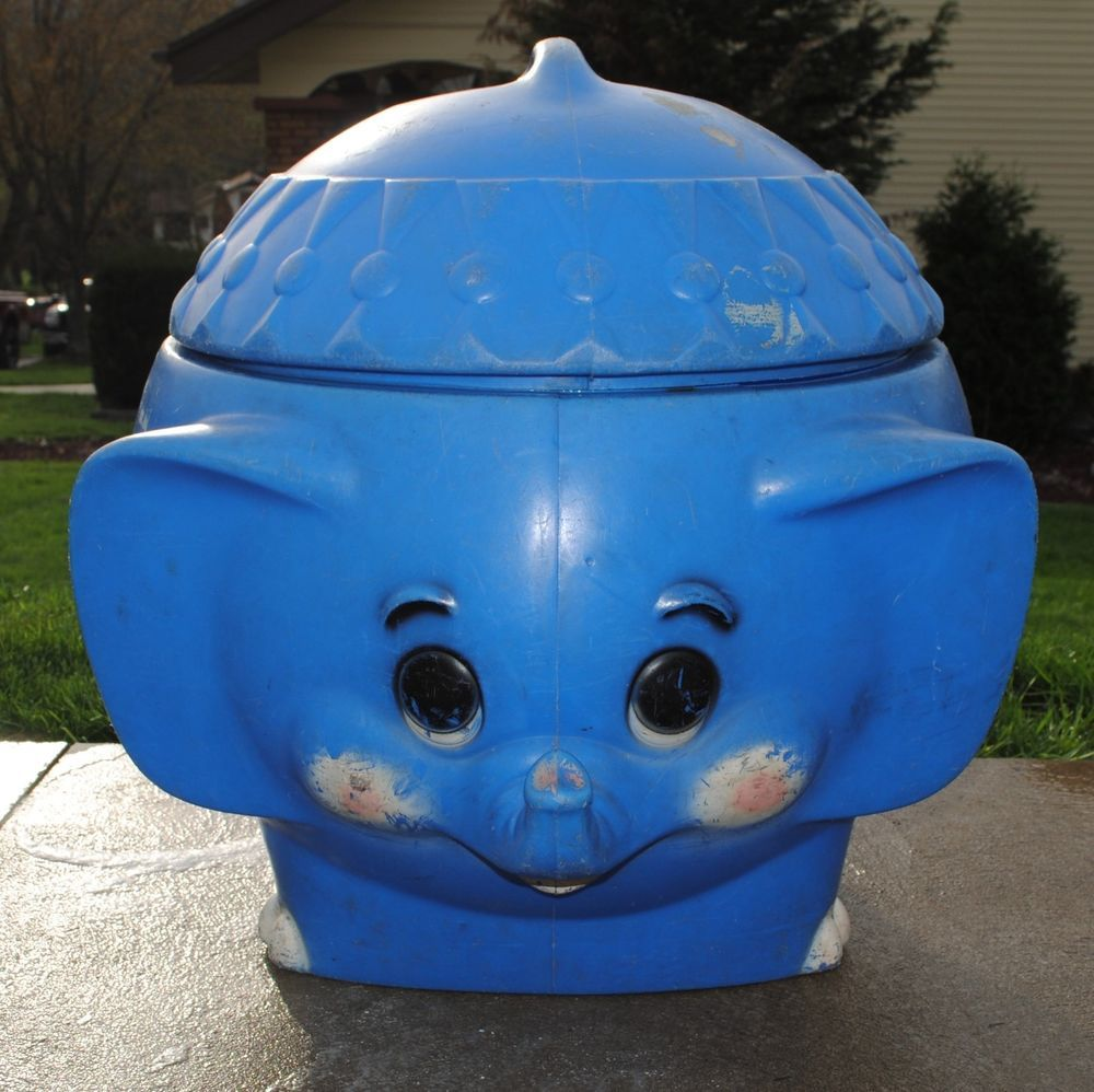 elephant toy box junk of the month vintage elephant toy box eve  - edfcadafdcfcba vintage blue elephant plastic toy box