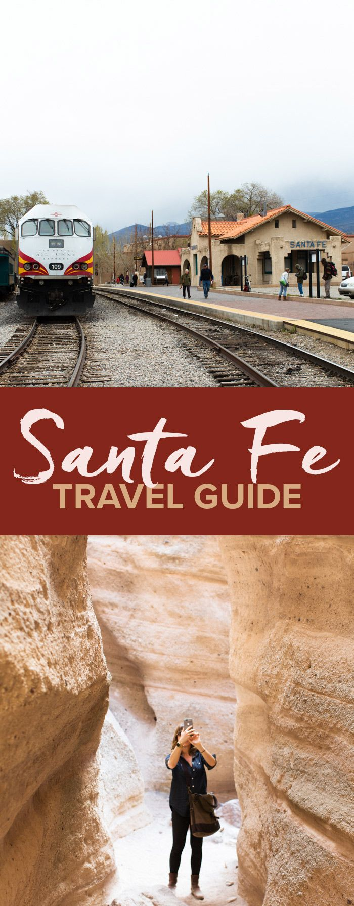 A travel guide to the best places to eat and hike in Santa Fe, including enchiladas, drinking chocolate, Tent Rocks, ladder climbing,…