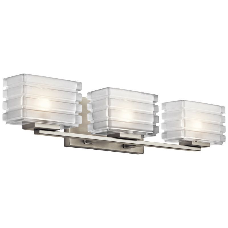 affordable bathroom lighting. Kichler Bathroom Fixture Model Bazely - Bath In Brushed Nickel Finish. Transitional From The \u0026 Steel Finishes Group Nickel. 3 Light Affordable Lighting