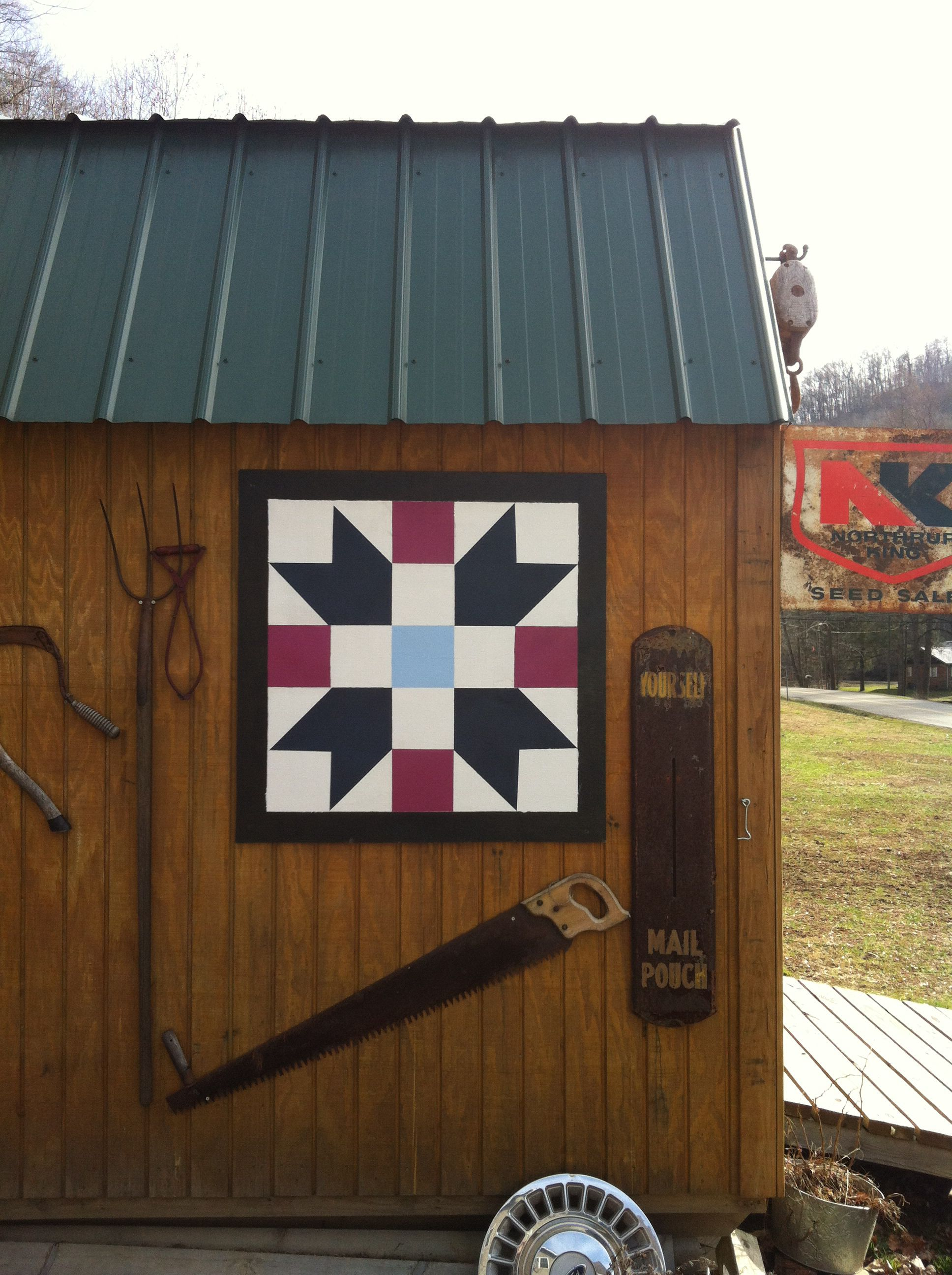 Diy 2x2 Barn Quilt Made For Me By My Hubby Painted Barn
