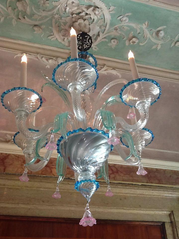 Lampadario di vetro di Murano