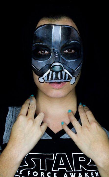 Pin By Tamara Kincaid On Face Paint Star Wars Darth Vader Face Paint Darth Vader Face Darth Vader Makeup