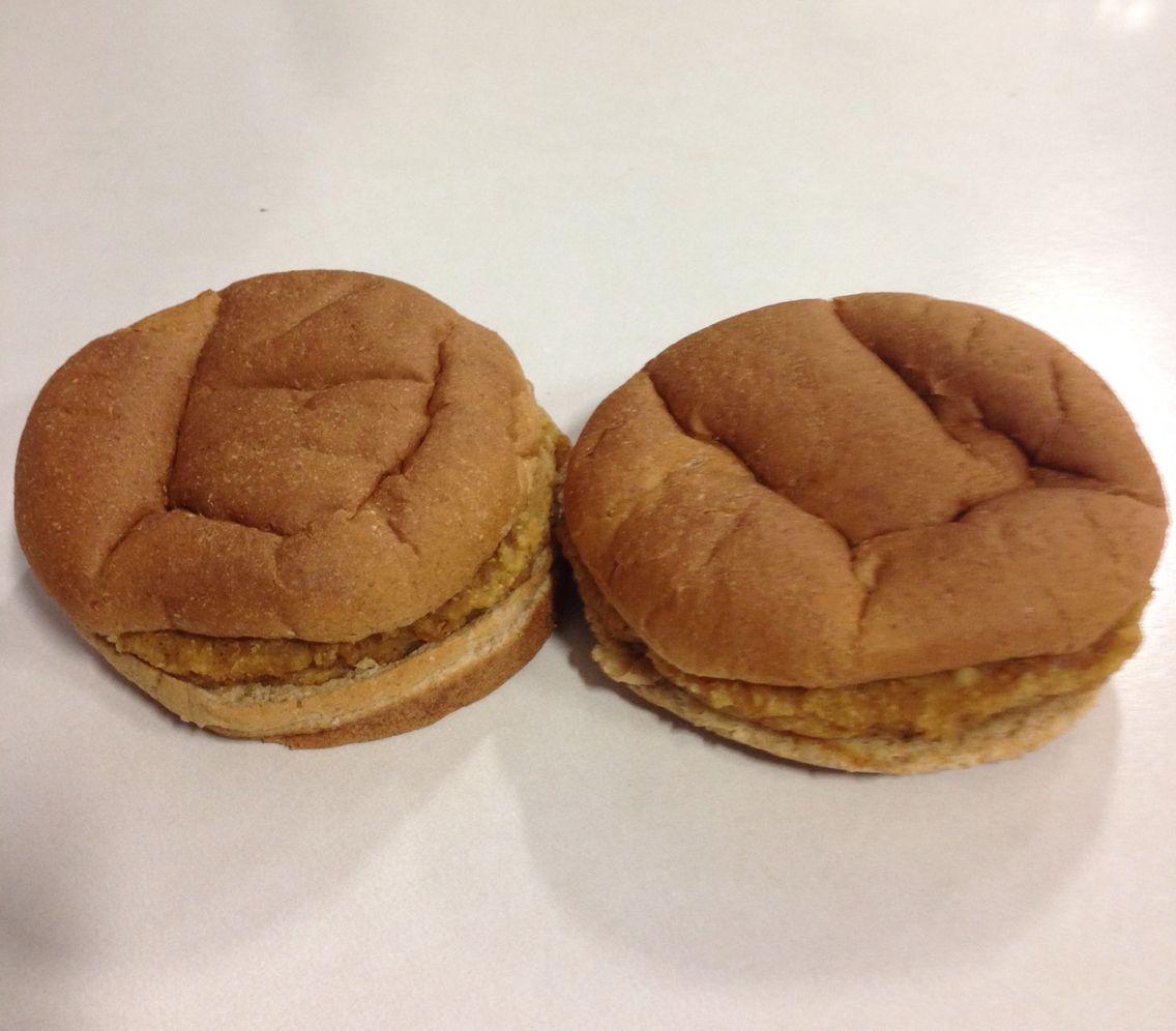 Two chicken patty.