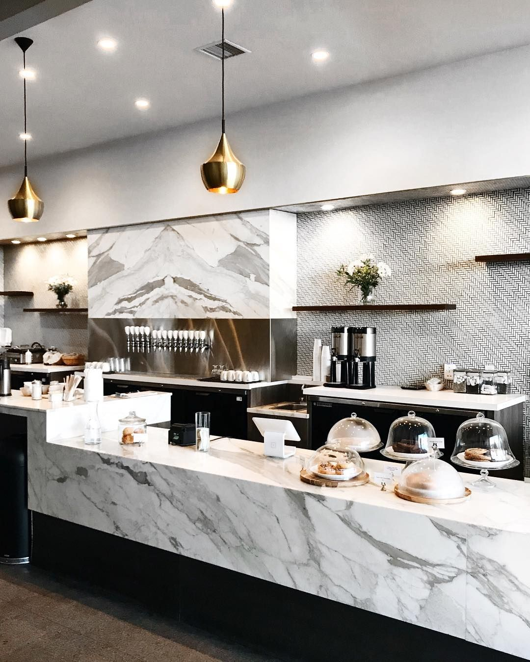 I Love This Marble Bar For The Rendering Cafe Interior Design Bakery Design Interior Coffee Shops Interior