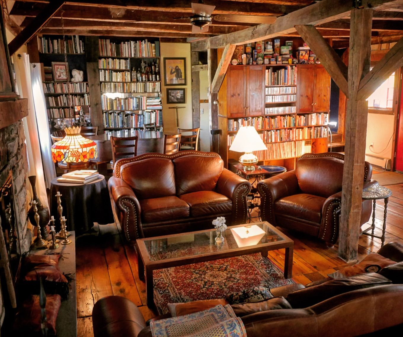 18th century barn converted to cozy living room in New ...