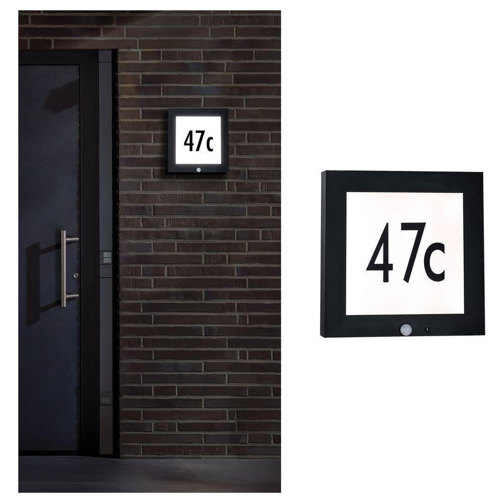 Outdoor Panel 300x300mm Ip44 11w 230v Anthrazit Hausnummer
