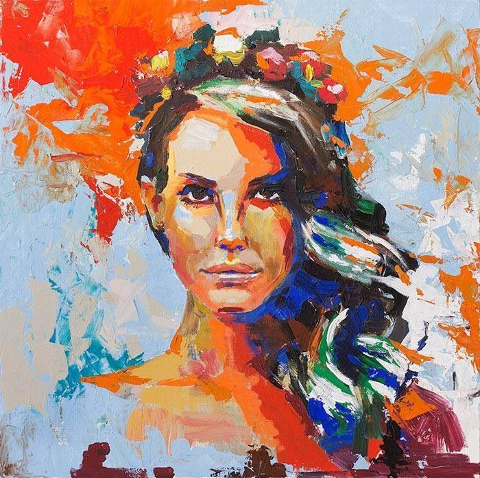 Lana del rey painting | Stuff. | Pinterest | Lana del Rey ...