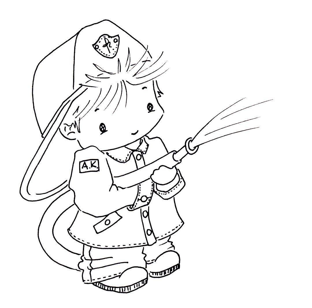 Sliekje digi Stamps firefighter   Digi stamps, Digital stamps ...