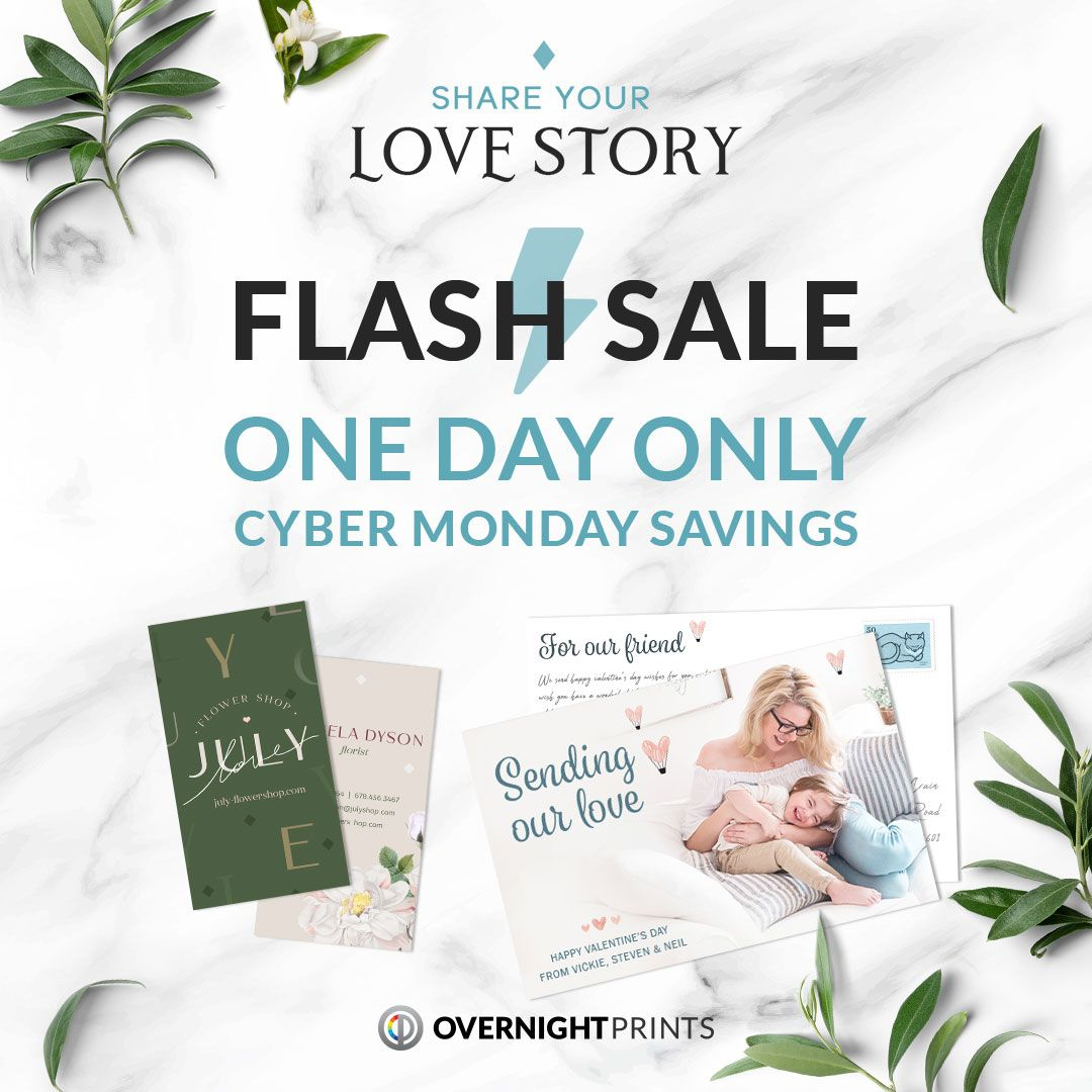Cyber Monday Vday Sale In 2020 Overnight Prints Overnight Promo Codes