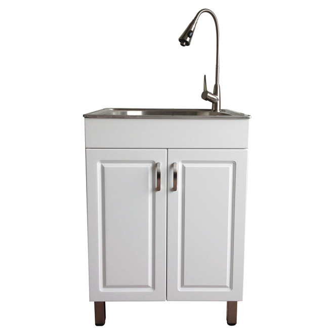 Westinghouse Laundry Sink With Cabinet Flat White Two Panel