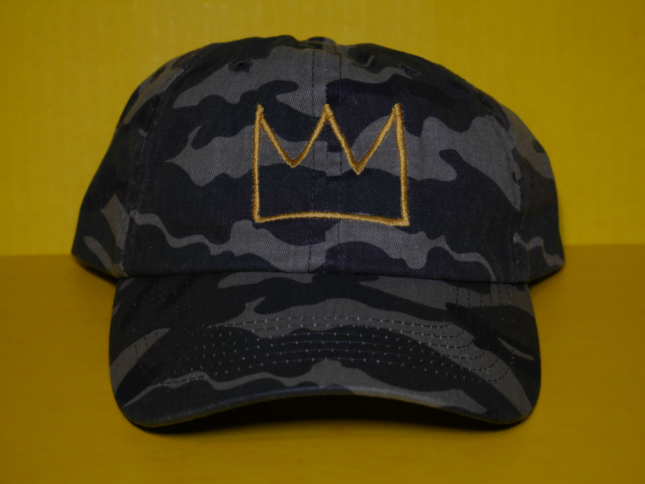 6f1f5c035ee Basquiat Crown Embroidered Baseball Cap
