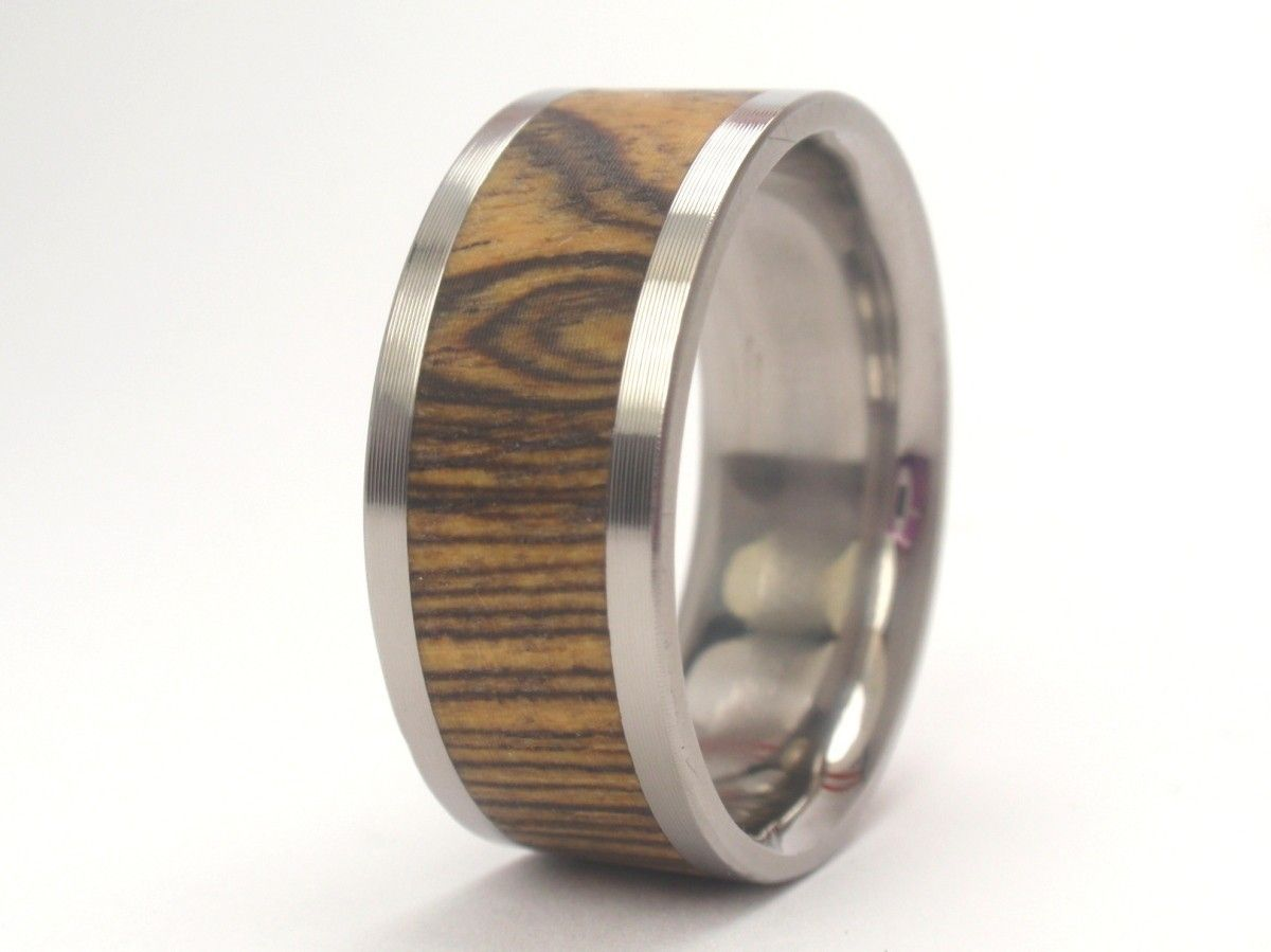 Anium Ring Interchangeable Bocote Wood Inlay 185 00 Via Etsy