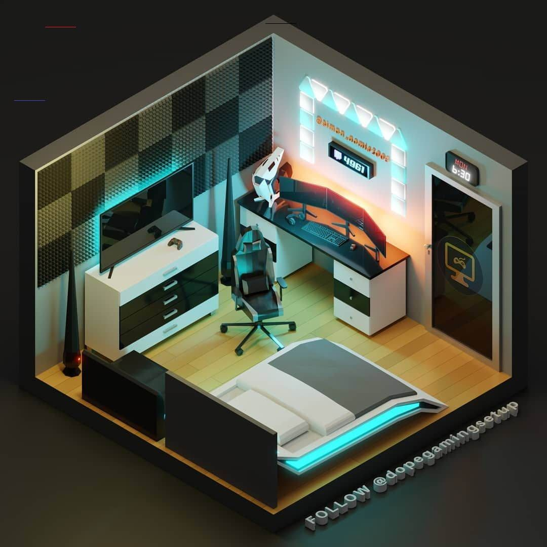 """Pc Game Room Ideas: 3D Models On Instagram: """"Our Client @nomba"""