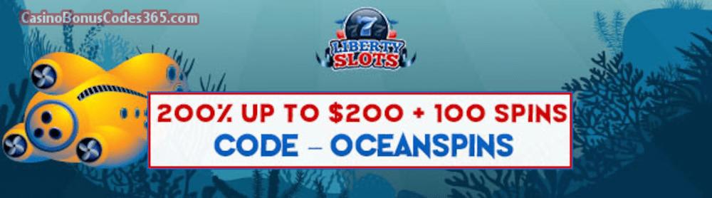 Liberty Slots 200 Match Bonus Up To 200 Bonus Plus 100 Free