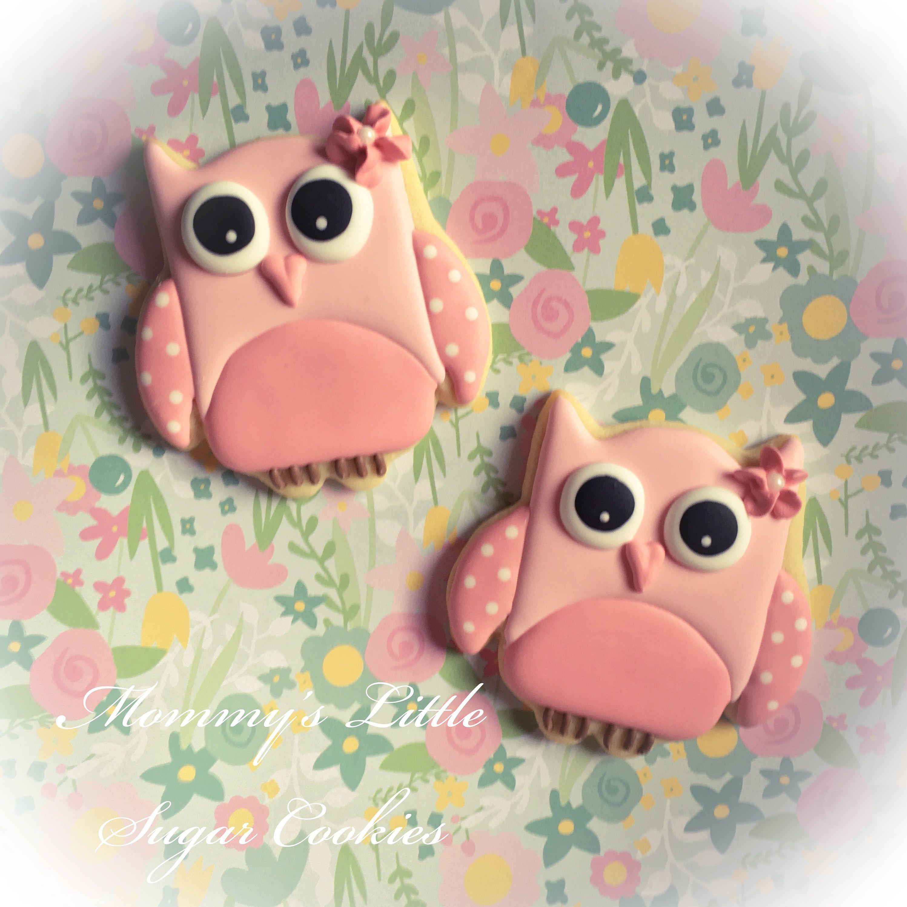 Owl Owls Baby Baby Shower Cookies Baby Shower Cookies Girl Girl