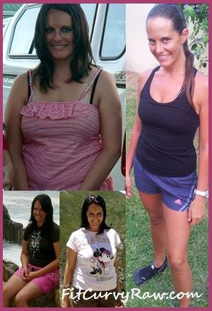 Julie Before and After Raw Food - Fruitarian Style!