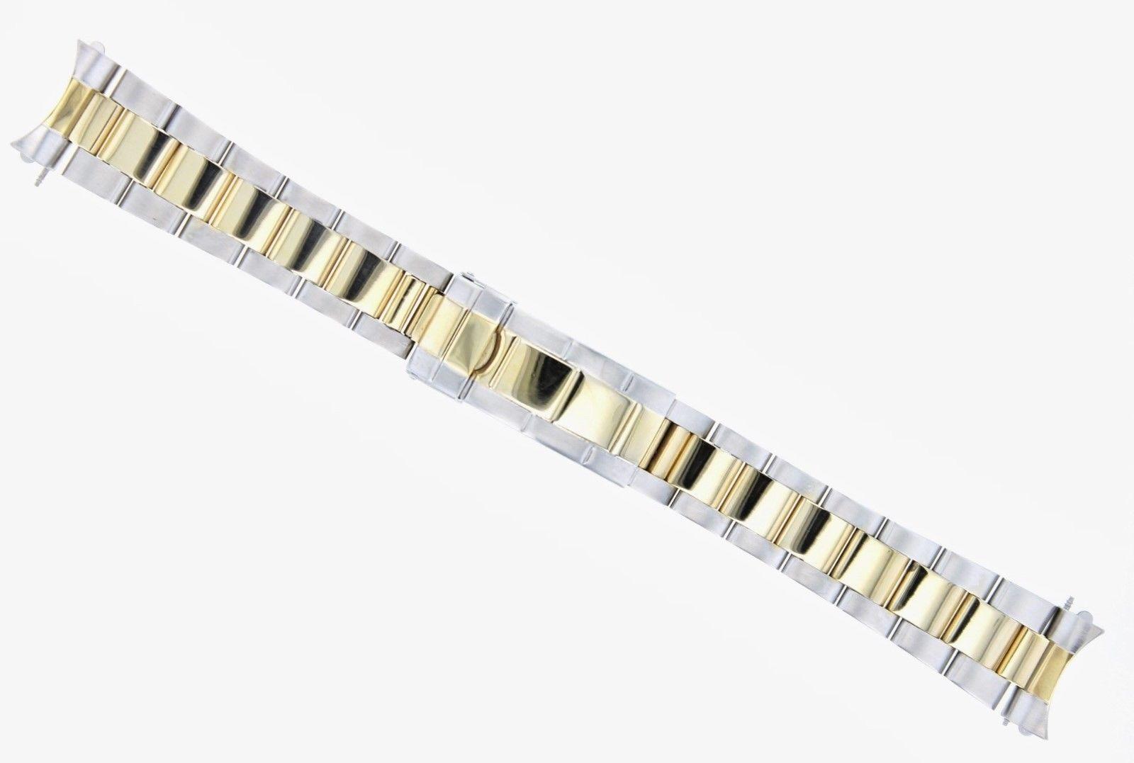 Oyster watch band bracelet for mens rolex goldss mm