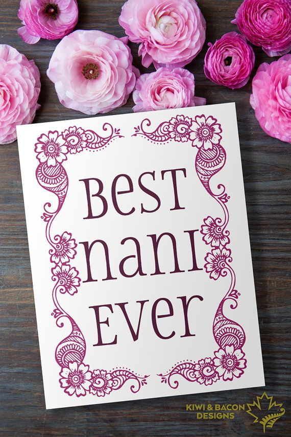 Indian Mother's Day Greeting Card Printable - Best Nani ...