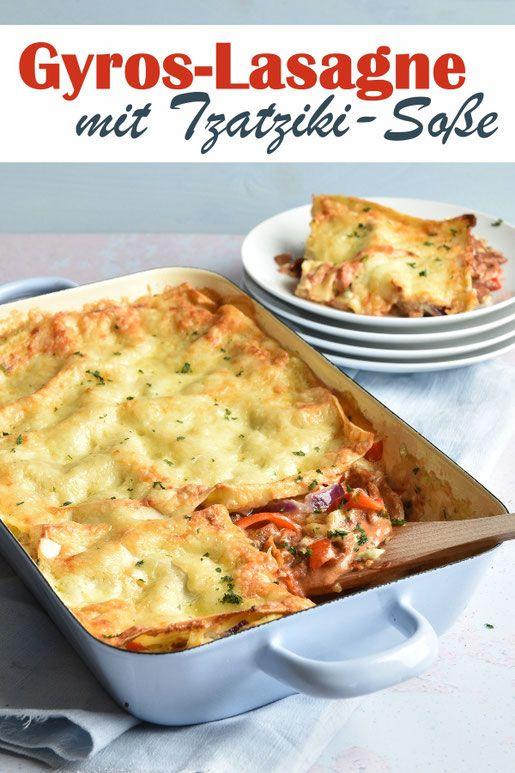 Gyros-Lasagne. Mit Tzatziki. Mmmhhhh!