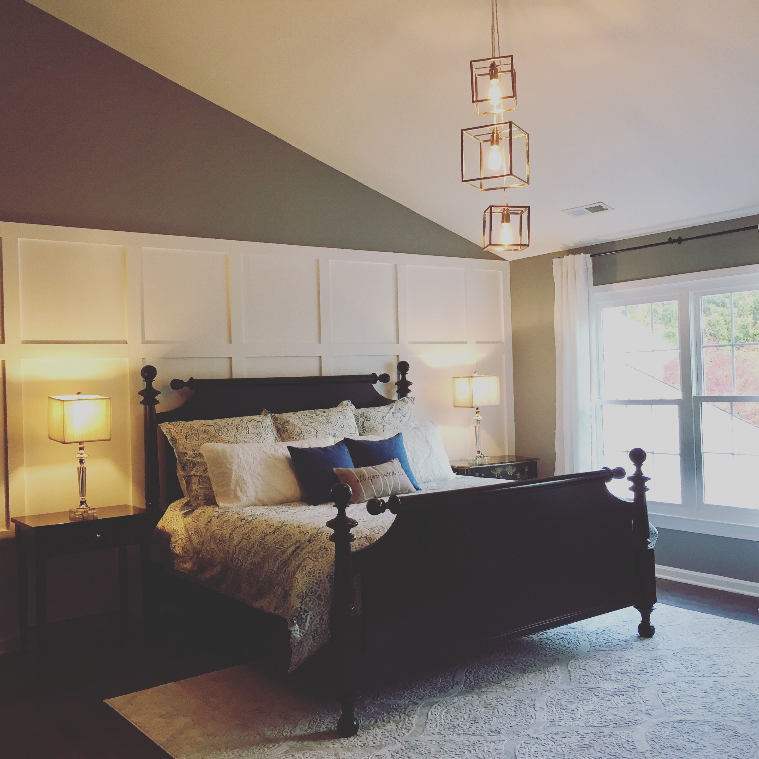 Board And Batten Wall Master Bedroom With Vaulted Ceiling Bedroom Wall Master Bedroom Makeover Vaulted Ceiling Living Room