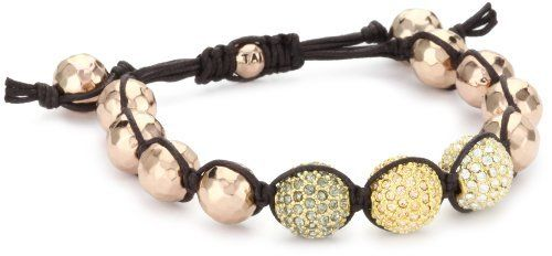 Tai Rose Gold Hammered Ball And Mixed Swarovski Crystals Ball Bracelet Tai 220 00 Hand Braided Cotton Adjustable Cord Rose Gold Hand Hammered Balls Three M