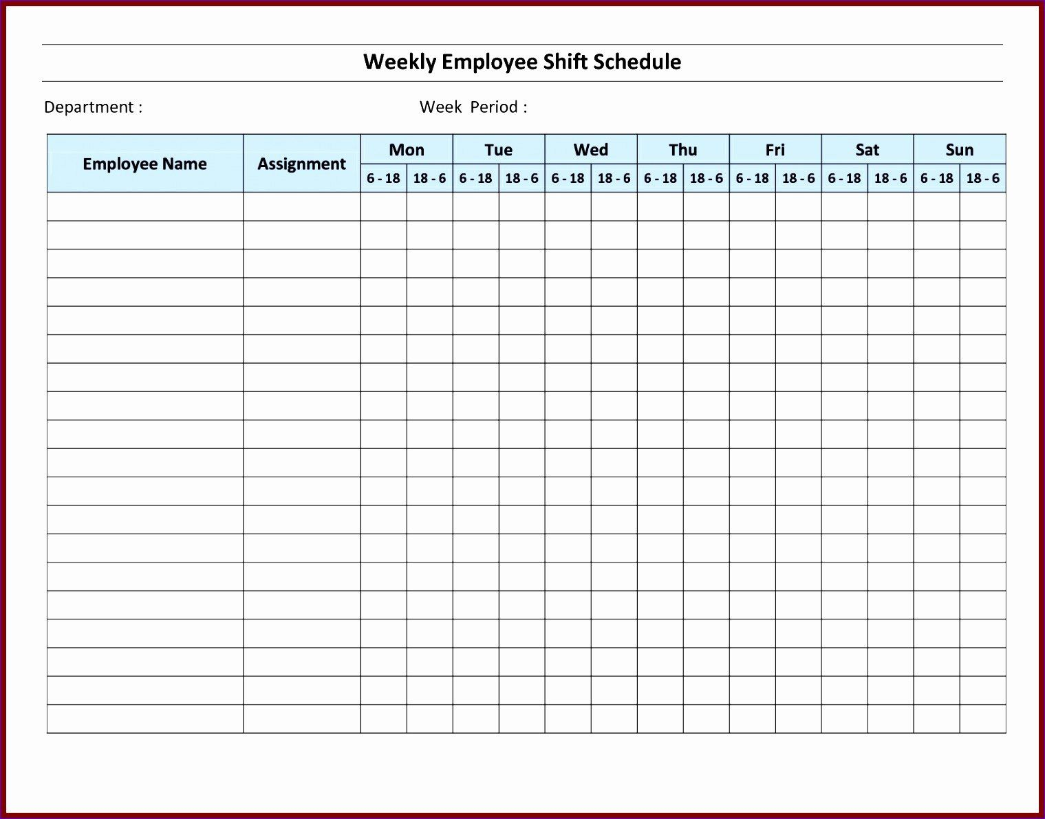 Which schedule is best for certain situations? Free Printable Employee Work Schedule Template Download Free Printable Gallery