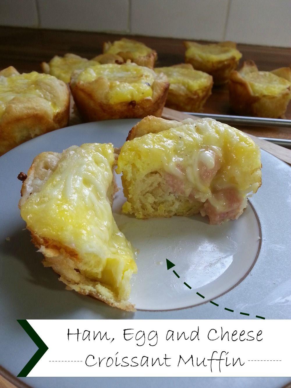 Ham, Egg and Cheese Croissant Muffins #GoAllNatural #WeaveMade #ad #SmithfieldAllNatural @smithfieldfoods