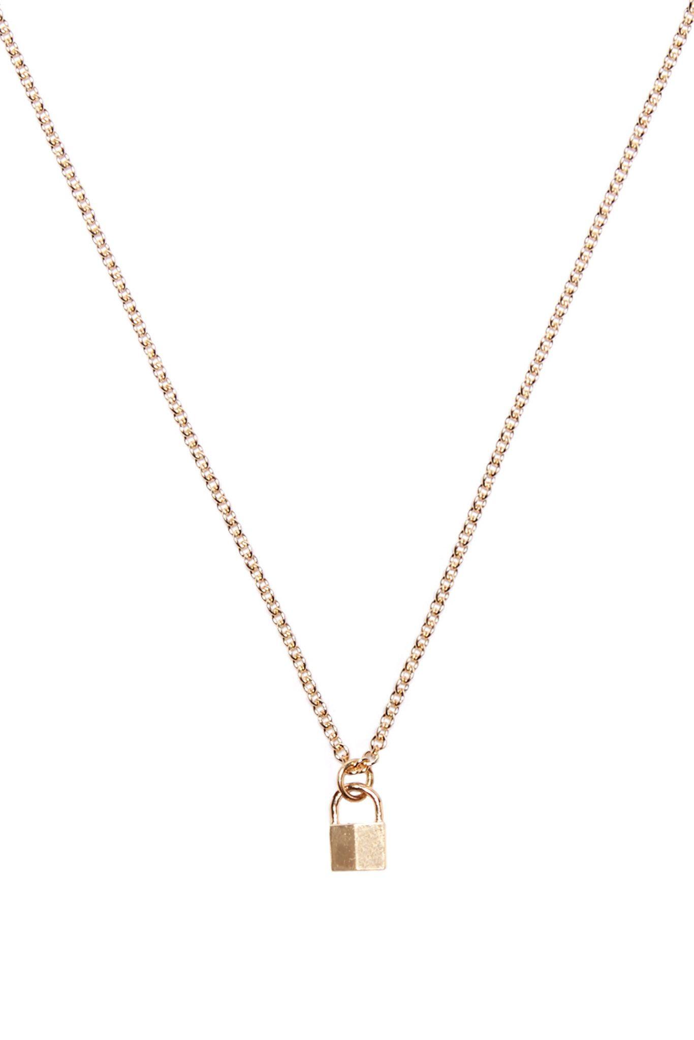 Tiny Padlock Necklace Gold Padlock Necklace Necklace Gold Necklace