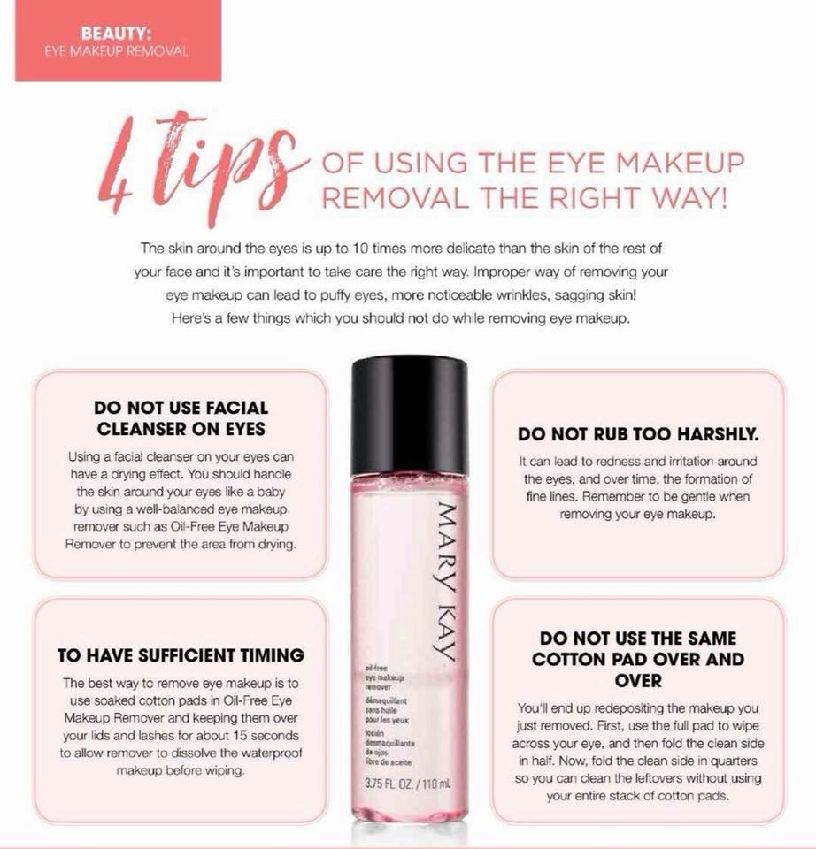 Mary Kay OilFree Eye Makeup Remover Tips Mary kay eyes