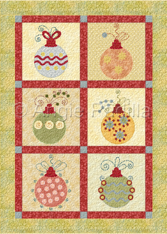 Retro Ornaments Wall Hanging - Add embroidery and embellishments to ...