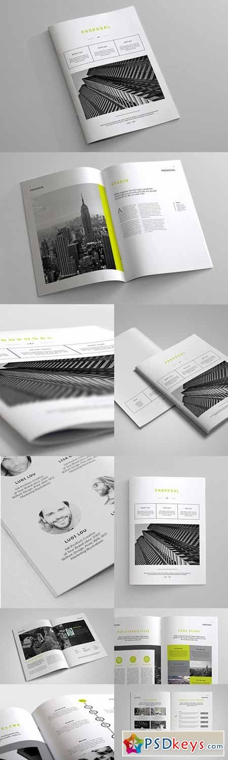 indesign business proposal template 245878