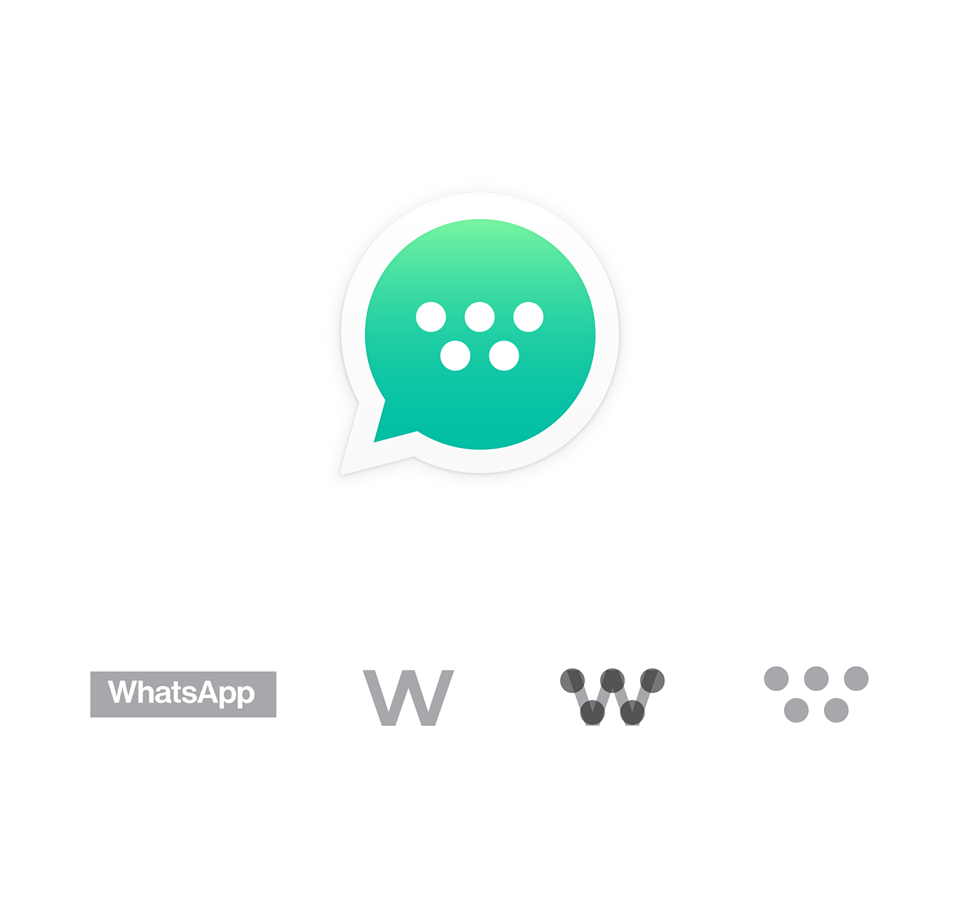 Rebranding WhatsApp and new idea for Fb Messenger. Only