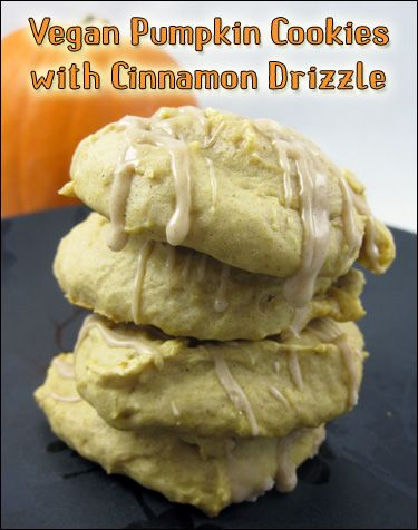 Vegan Pumpkin Cookies with Cinnamon Drizzle  vegan, plantbased, Earth Balance, Made Just Right