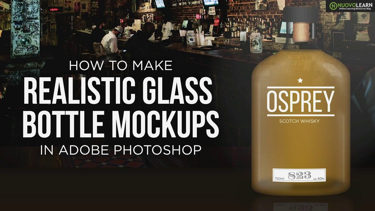 Download How to Create a Realistic Glass Bottle Mockup in Adobe ... Free Mockups