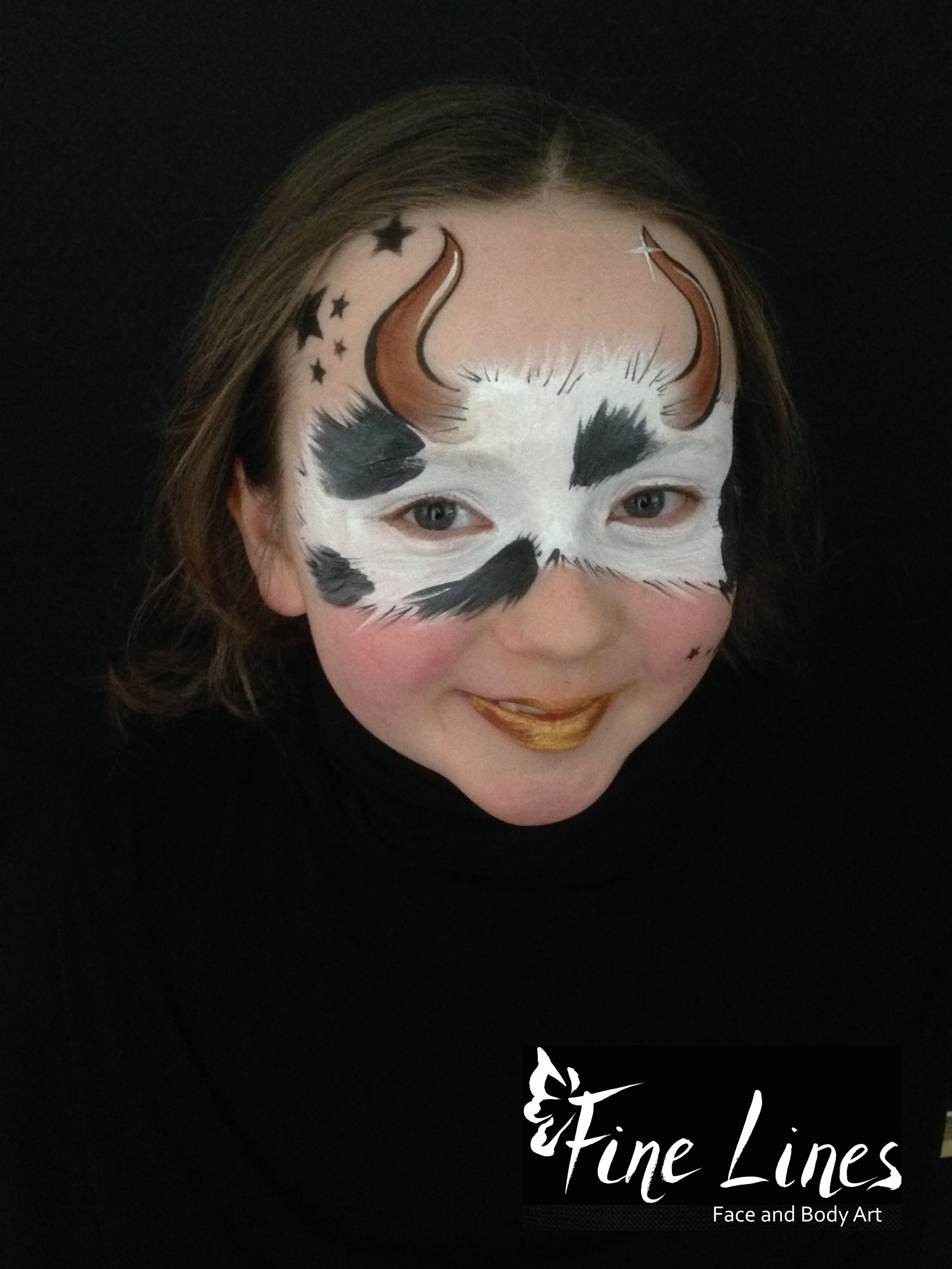 Cow costume face paint? like the bell | Cow Appreciation Day Ideas ...