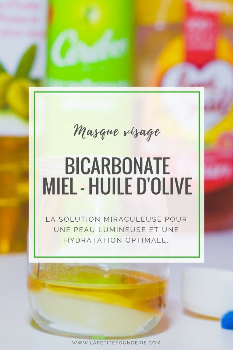 masque visage bicarbonate miel huile d 39 olive par beautee pinterest. Black Bedroom Furniture Sets. Home Design Ideas