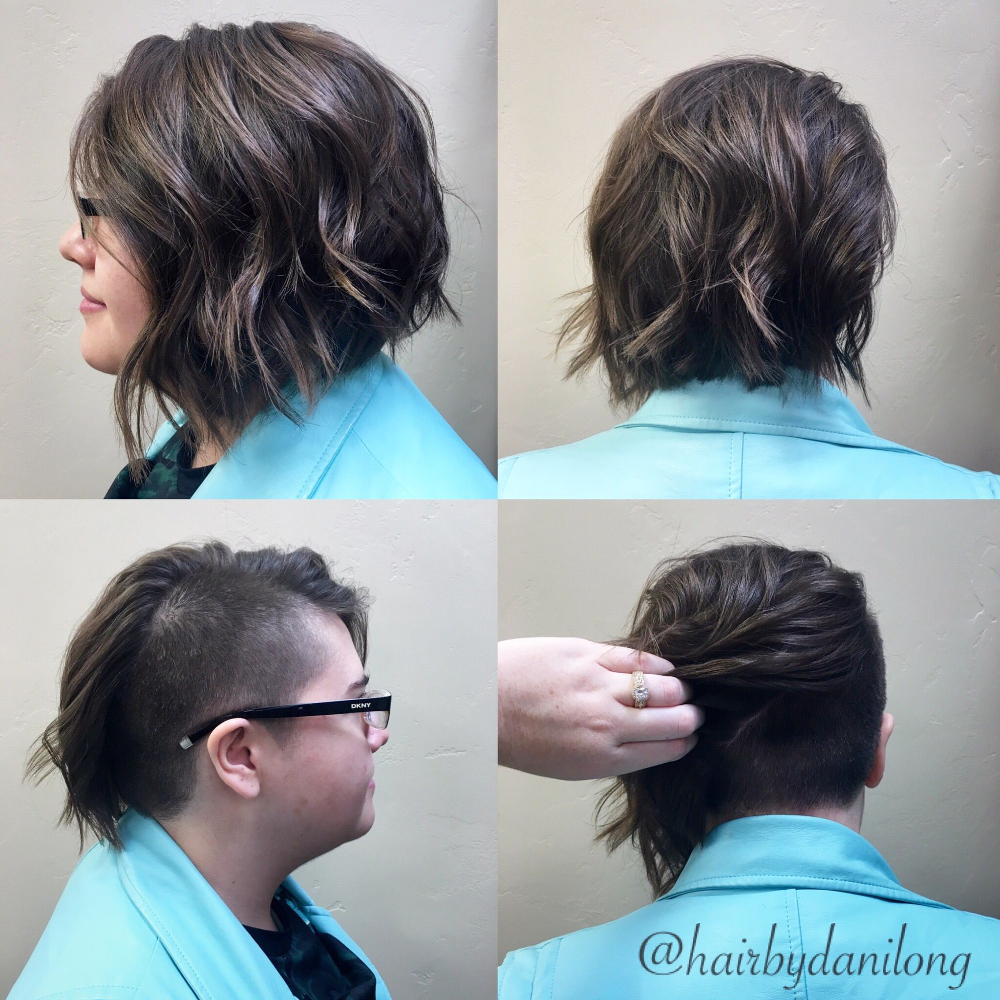 Shaved side to undercut back razored a-line
