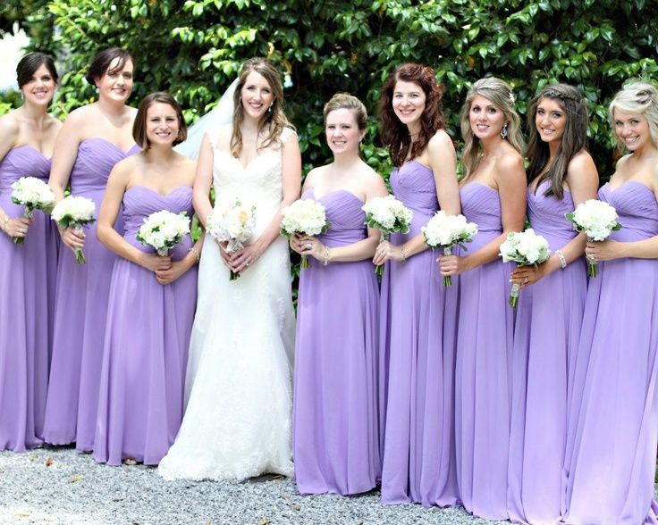 Chic Bridesmaid Dress Lavender Purple Dresses