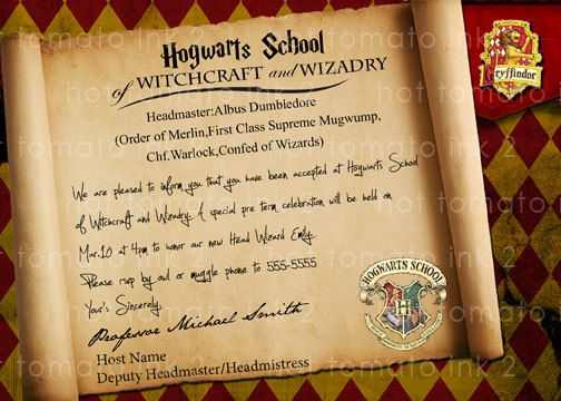 Pin By Heather Harrison On Party Planning Harry Potter Invitations