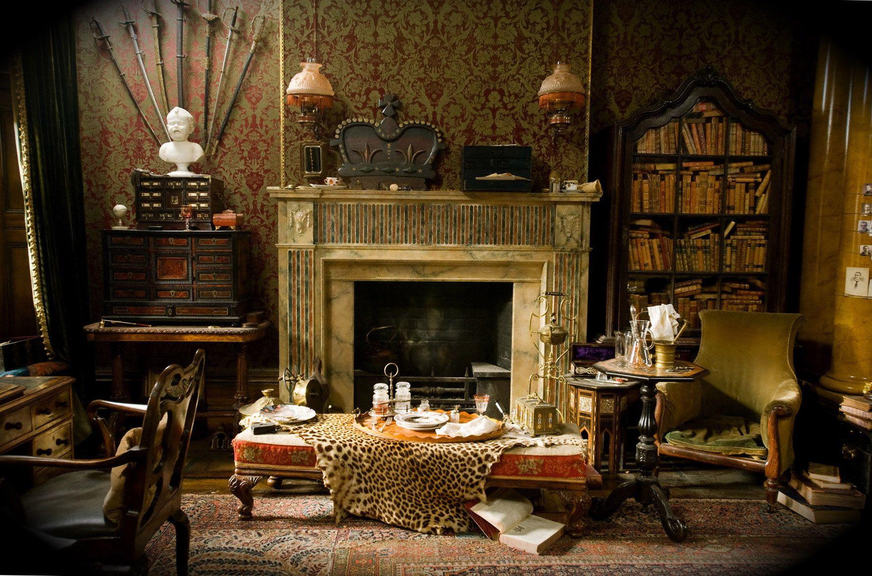 10 rooms inspired by books sherlock interiores - Casa de sherlock holmes ...