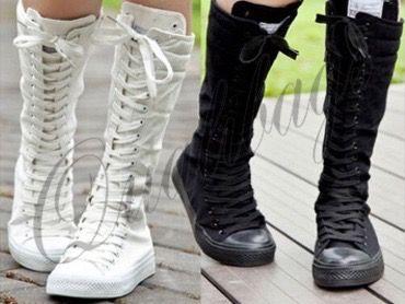 Hu1 Trampki Wysokie Emo Punk 34cm 37 38 39 40 5222526415 Oficjalne Archiwum Allegro Knee High Sneakers Punk Boots Girls Shoes